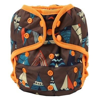 Baby Diaper Cover Nappy Cover Double Gussets Reusable One Size Teepee