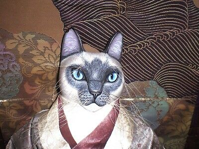 Tyber Katz Hand Painted Wood Cat Doll Orientals 7/50 Signed Beautiful CAT