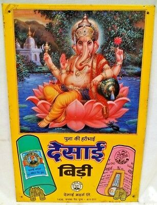 Cigarettes Advertise Desai Bidi Ganesha Brand Indian Tobacciana Collectibles #8