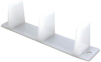 2 White Prime-Line Products N 6563 Sliding Closet Door Bottom Guide 4 3/16 inch