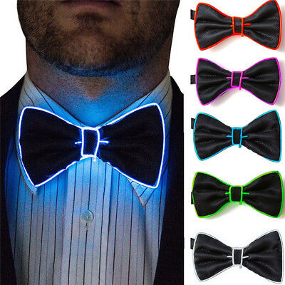 Creative LED Flashing Light Up Glow Bowtie Necktie Party Bow Tie Wedding Gift
