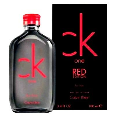 Ck One Red by Calvin Klein Cologne Perfume For Men 3.4 oz Edt Spray NEW IN BOX