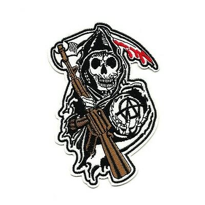 Ecusson SONS OF ANARCHY faucheuse reaper biker Patch Parche Toppa Aufnäher logo
