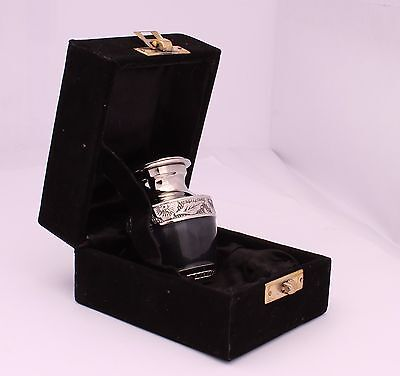 SALE mini Keepsake Urn Small Cremation Urn for Ashes Funeral Memorial Black