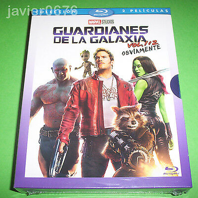 Guardianes De La Galaxia Vol. 1 + Vol. 2 En Blu-Ray Pack Nuevo Precintado Marvel