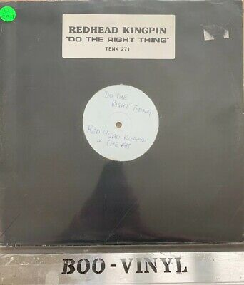 """Redhead Kingpin & FBI Do The Right Thing 12"""" White Label Demo Track Ex"""