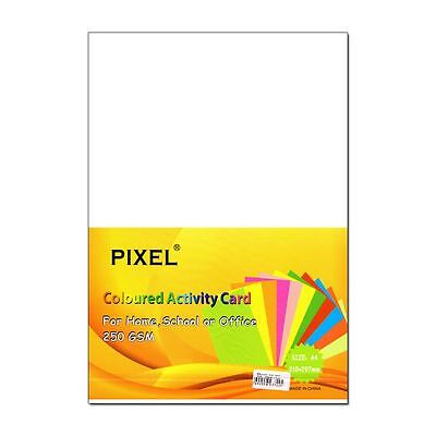 Pixel® A4 Card for Home, School, Office (White - 250GSM - 25 Sheets)