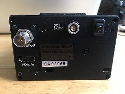 Cineroid EVF4MHS HDMI to SDI converter EVF with eye cup, battery bracket