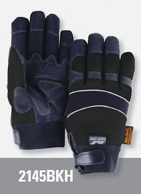 Majestic 2145BKH Winter Hawk Insulated & Waterproof Mech. Gloves, Black