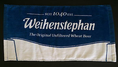 WEIHENSTEPHAN Germany German Wheat Beer 1-Sided Bar Pub Cotton Towel w Logo NEW