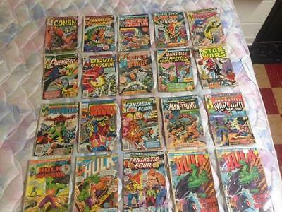 Mixed lot of 20 Marvel Comics comic books from poor to very Good shape Hulk FF +