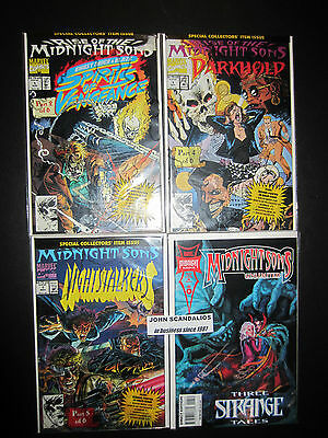 Lot of 4 Marvel Comics RISE OF THE MIDNIGHT SONS 1993-94 UNREAD New comic books