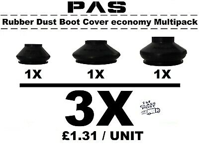 UNIVERSAL SMALL TRACK ROD END BALL JOINT RUBBER DUST BOOT COVERS MULTIPACK 8X