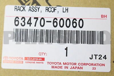 6347060060 Genuine Toyota RACK ASSY, ROOF, LH 63470-60060