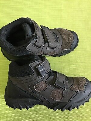 Boys Stride Rite® Rugged Ritchie 2 Dark Brown Leather Boots size 13M (EUR 31M).