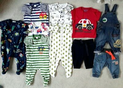 100 % NEXT baby boy bundle sleepsuits dungarees 3-6 months