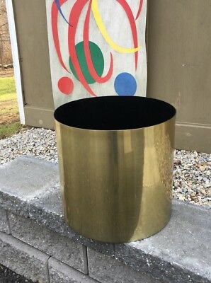Vintage LG aluminum ARCHITECTURAL smokador Gold Brass Color PLANTER mcm HABITAT