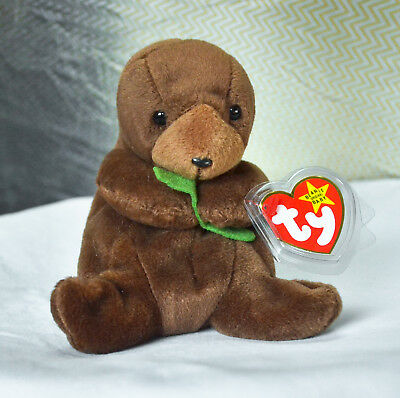 NEW with Tags Ty Beanie Baby Very RARE - Seaweed the Otter