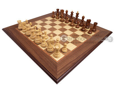 Brand New! Beautiful Wood Chess Set - Deluxe Walnut Board & 3x Weighted Pieces