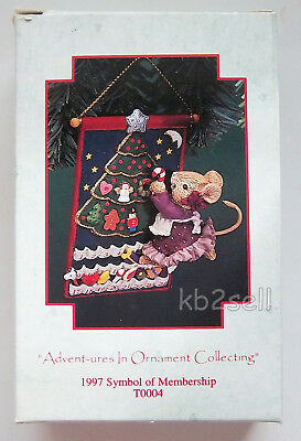 Enesco 1997, Advent-Ures In Ornament Collection, Membership Mouse Ornament