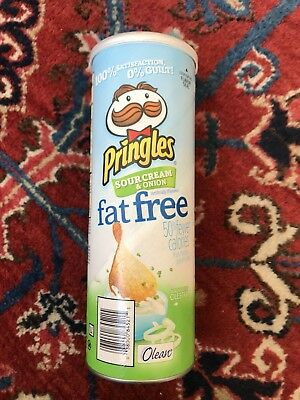 Pringles Fat Free Sour Cream And Onion Can With A Few Chips Collectable Read