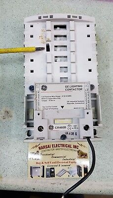 GE General Electric CR460B 120V Coil Lighting Contactor Base chipped