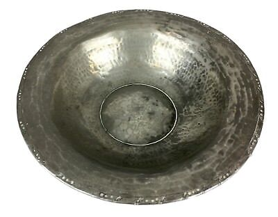 -Hw Hugh Wallis Of Altrincham- Antique Arts & Crafts Pewter Bowl Dish, Stamped