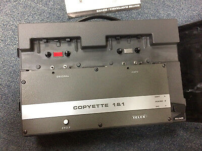 Telex Copyette 1 & 1 Cassette Tape Duplicator with case!