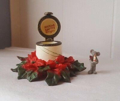"""Boyds Bears Treasure Box Collection """"Noel's Festive Candle with Wick McNibble"""""""