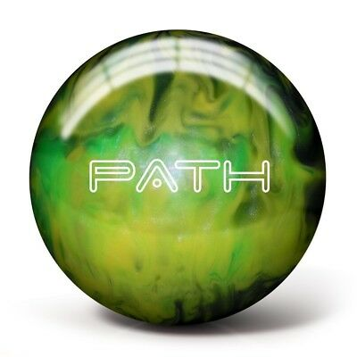 (7.3kg, Emerald/Lime/Acid Yellow) - Pyramid Path Bowling Ball. Delivery is Free