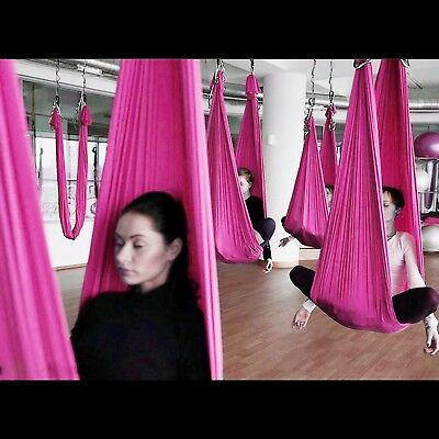 (Pink) - Elevens Aerial Yoga Swing Kit- Ultra Strong Antigravity Yoga Hammock/