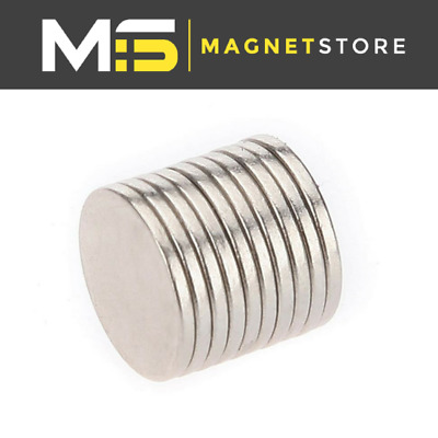 Strong Magnets 10x1 mm Neodymium Disc craft magnet 10mm dia x 1mm DIY N52