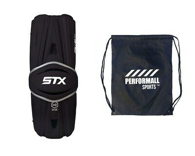 (Large, Black) - STX Bundle: Stallion HD Lacrosse Arm Guards with 1 Performall