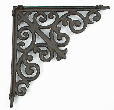 Wall Mount Iron Antique Rustic Shelf Cistern Brackets Corner French Lily