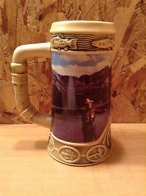 Collectible Original Coors Beer Stein Fly Fishing Life Rocky Mountains 1996