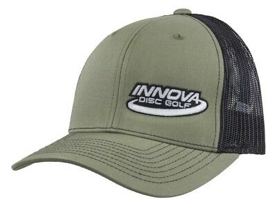 (Olive Green/Black) - Innova Logo Adjustable Mesh Disc Golf Hat. Brand New