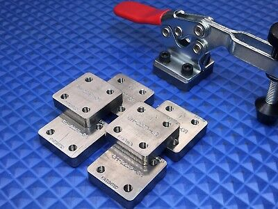 """Toggle Clamp 225D Horizontal, 3/8"""" thick Steel Mounting Blocks (Qty. of 6)"""