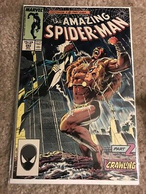 AMAZING SPIDER-MAN 293  (Marvel 1987) Death of KRAVEN (VF-) Mike Zeck art