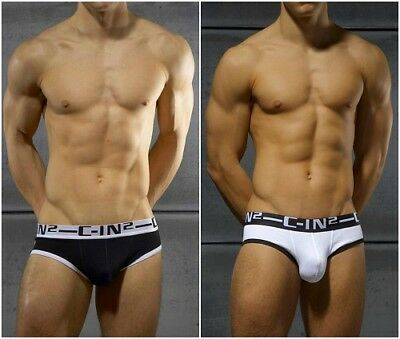 C-IN2 Brief Mens Underwear Black or White Gay/Guy FAST SHIPPING Size S M L XL