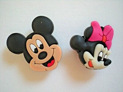Clog Shoe Charm Plug Button For Holey Sandal Jewelry Accessories Mickey Mouse