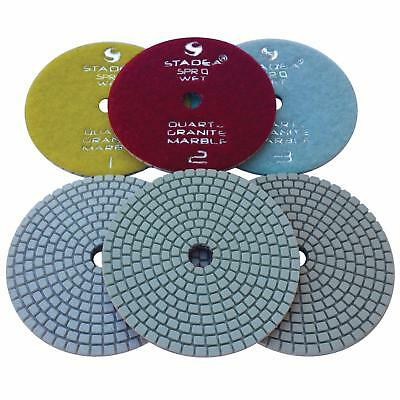 Stadea 3-Step Diamond Polishing Pads for Quartz Engineered Stone Wet Polishing