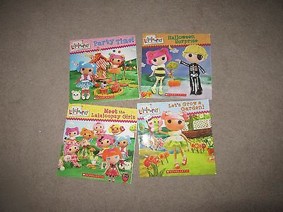 Lot of 4 Lalaloopsy Picture Books Halloween Grow Garden Party Time Meet theGirls