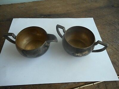 Vintage Taber & Tibbits Silverplate Cream and Sugar T & T #2615