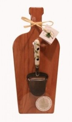 Out of the Woods of Oregon Large Wine Bottle Board with Olives Cheese Planer