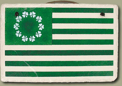 Irish Flag Hand-stenciled Slate
