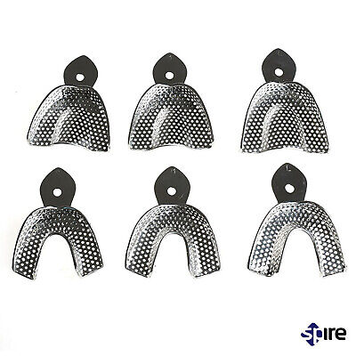 Perforated Dental Trays Denture Upper and Lower Rim lock Medium Stainless Steel