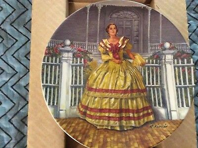 """""""Melanie"""" Knowles fine china collector plate"""