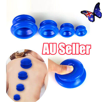 4 Cups Silicone Massage Cupping Celluless Vacuum Therapy Anti-cellulite Set  BO