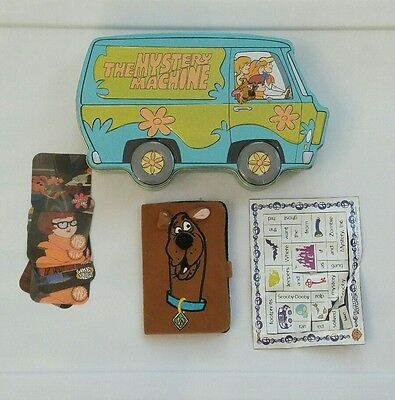 Scooby Doo Mystery Machine Tin with Billfold, Holograms, Sticker Magnets