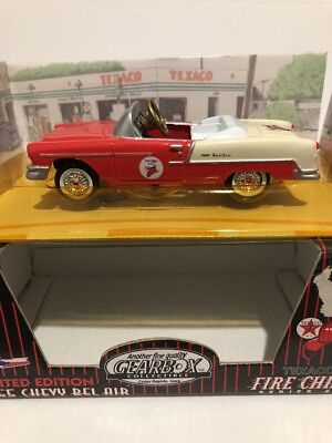 1997 Gearbox Limited Edition Texaco Fire Chief Red 1955 Chevy Belair Pedal Car